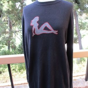 AUTUMN CASHMERE ~ SEXY GIRL SWEATER ~ M ~ BLACK